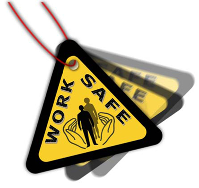 Work safe tags illustration